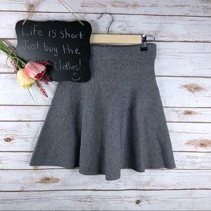 Lush gray thick structured elastic waist skirt